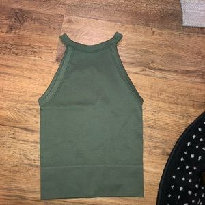 Green high neck top free people